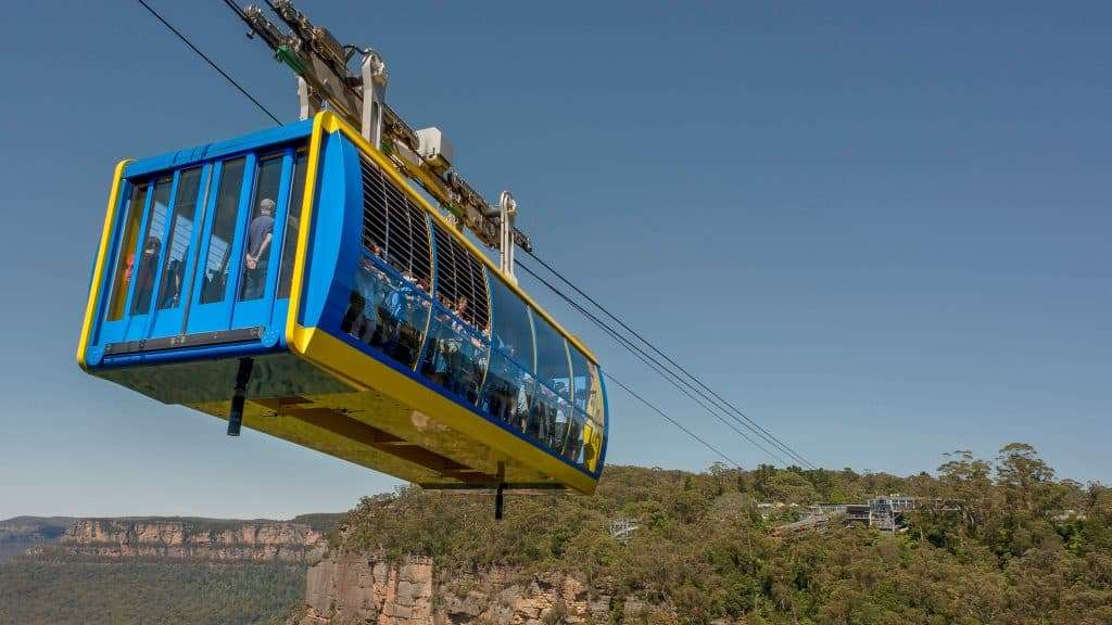 The newest version of Blue Mountains cable car after upgrades